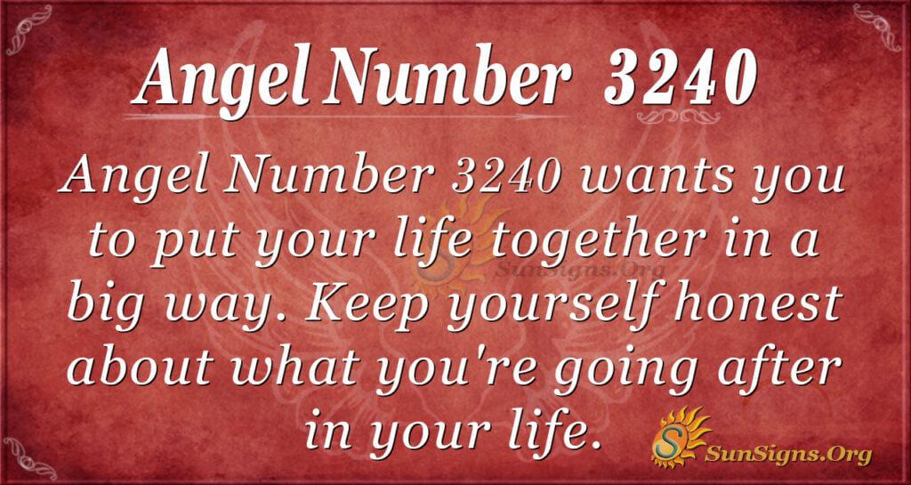 Angel Number 3240