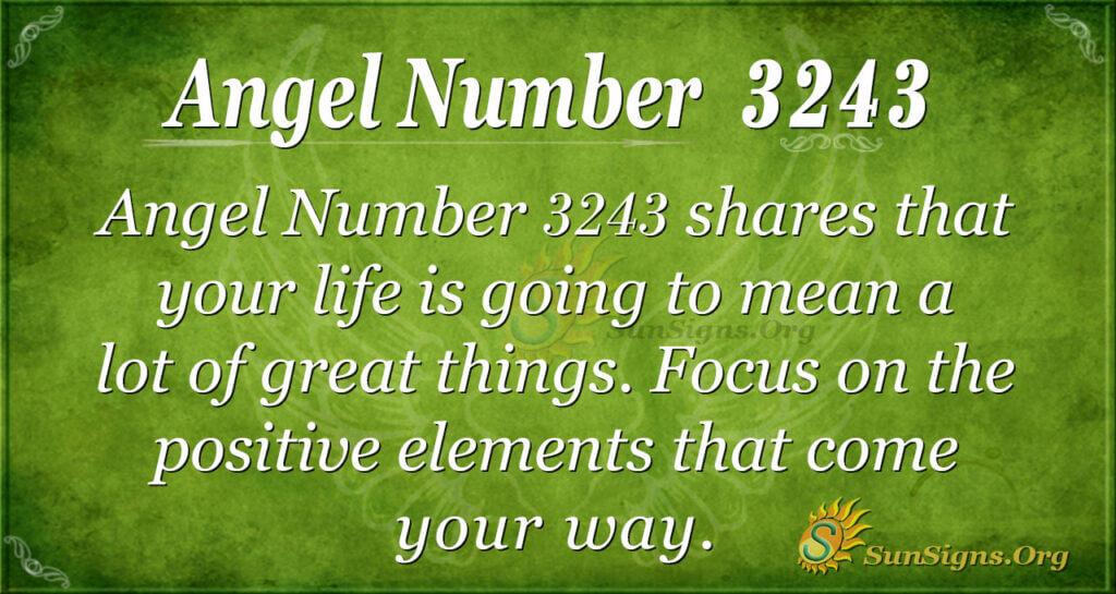 Angel Number 3243