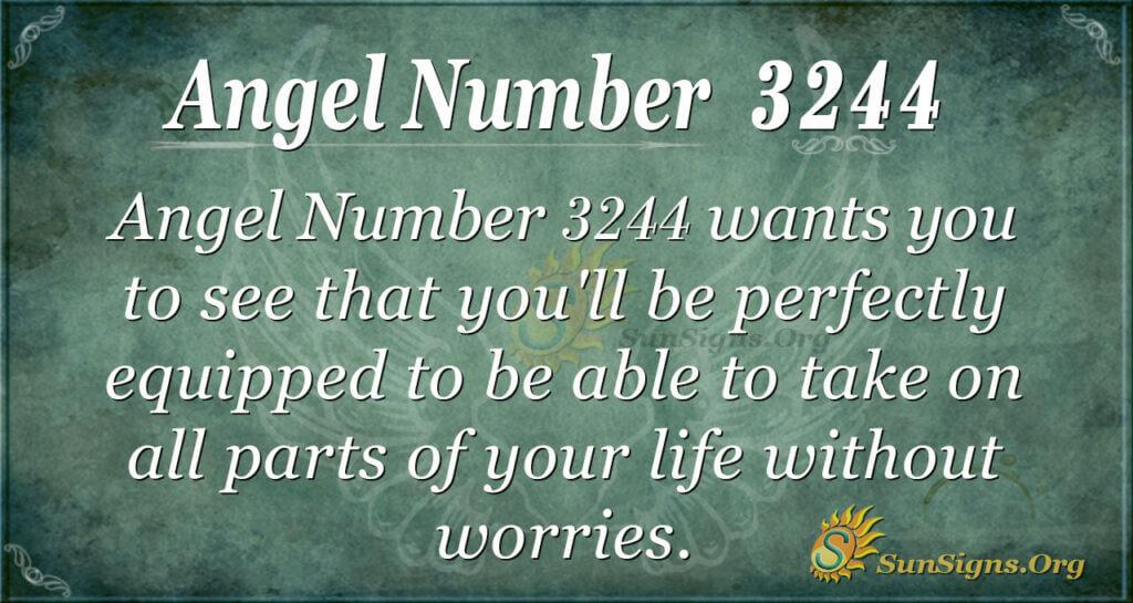 Angel Number 3244