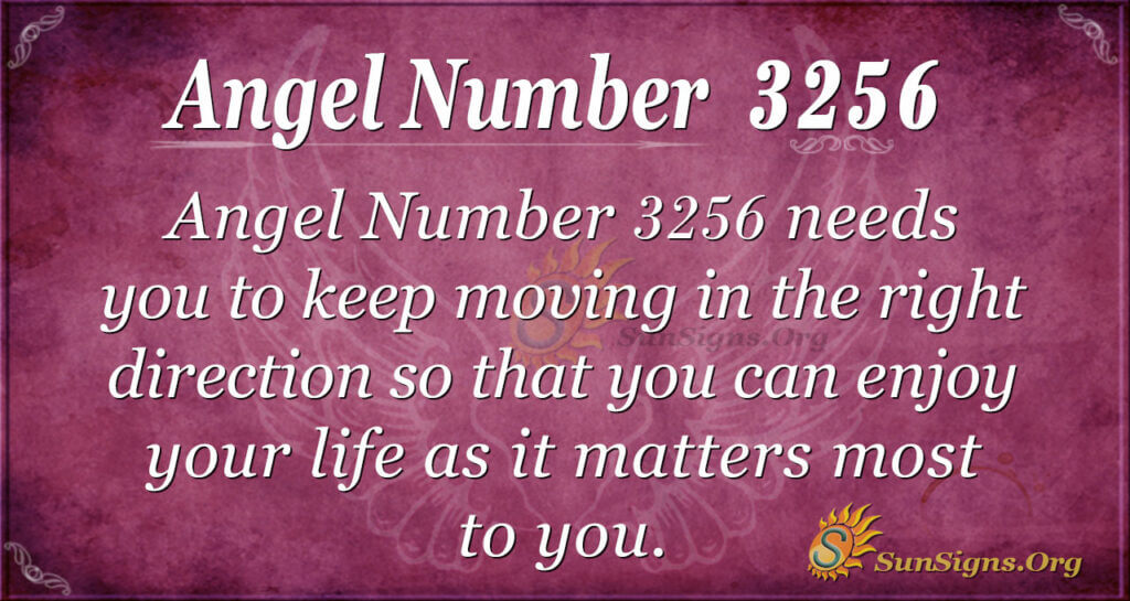Angel number 3256