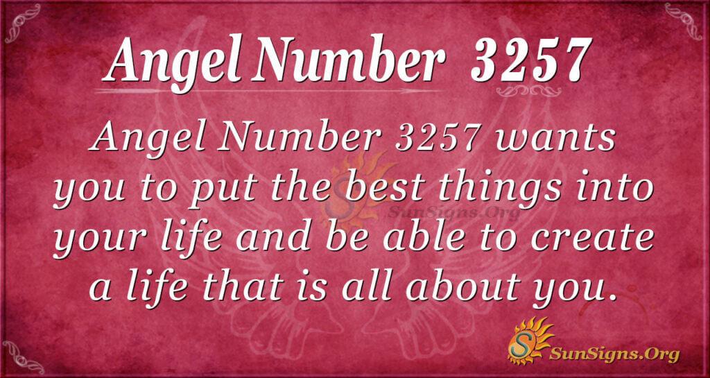 Angel Number 3257