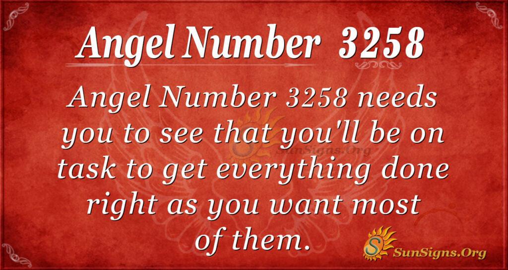 Angel Number 3258