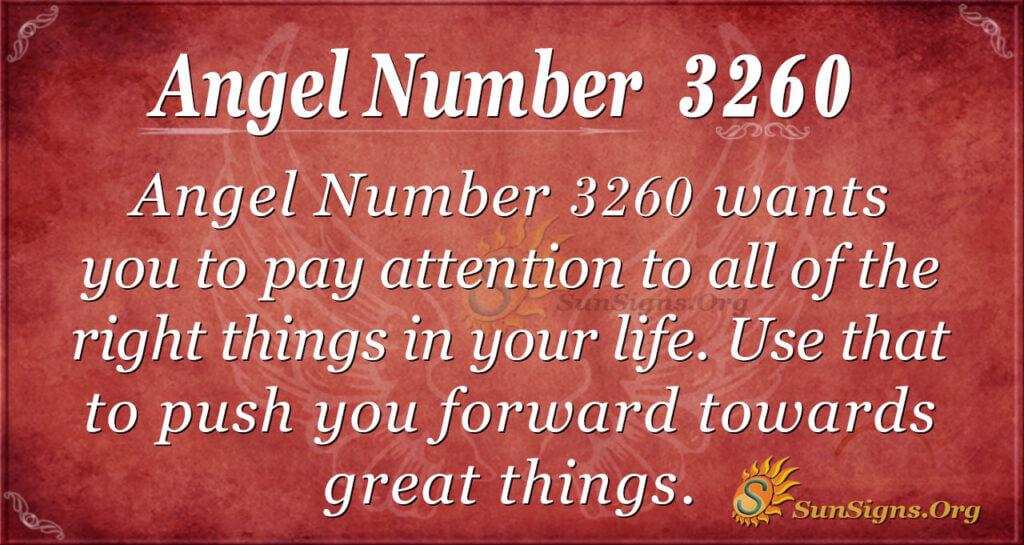 Angel Number 3260