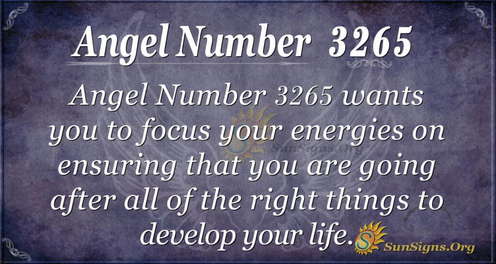 Angel Number 3265