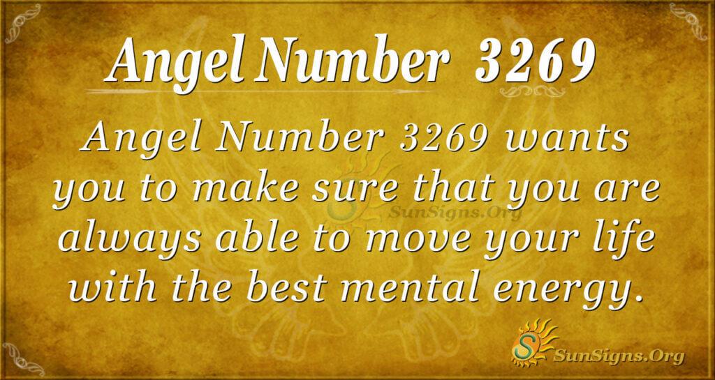 Angel Number 3269