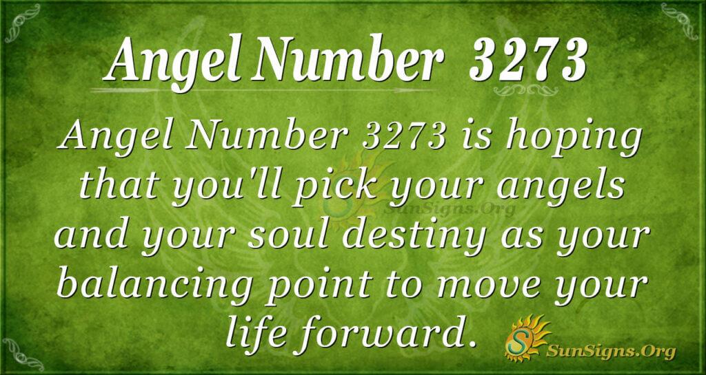 Angel Number 3273
