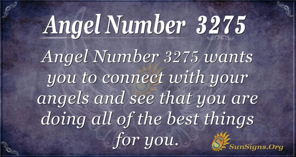 Angel Number 3275