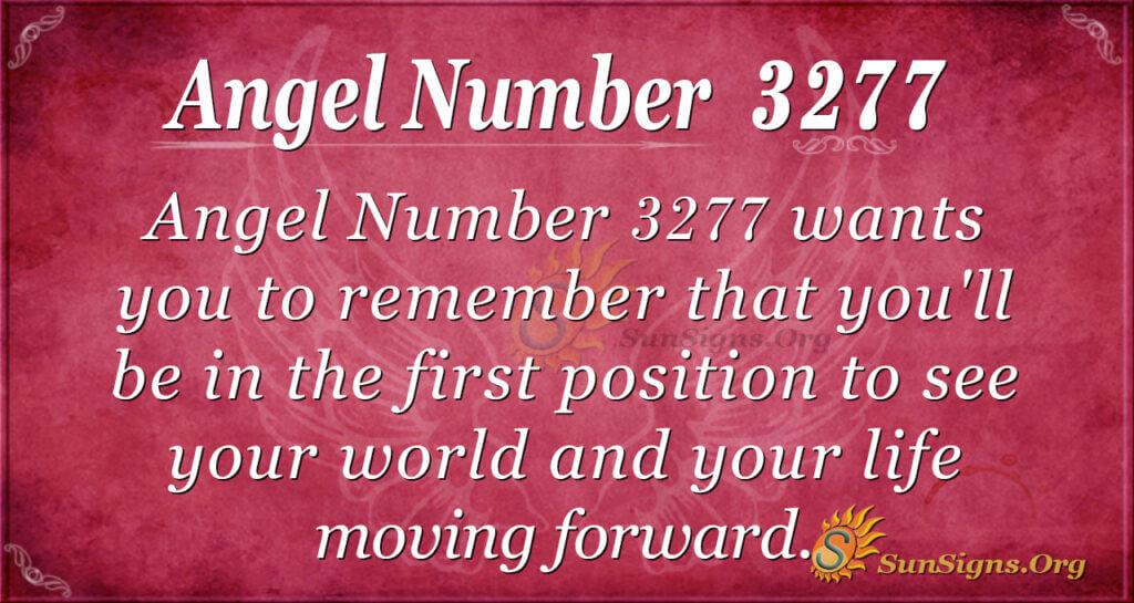 Angel Number 3277