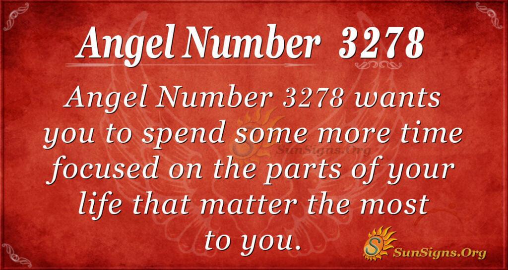 Angel Number 3278