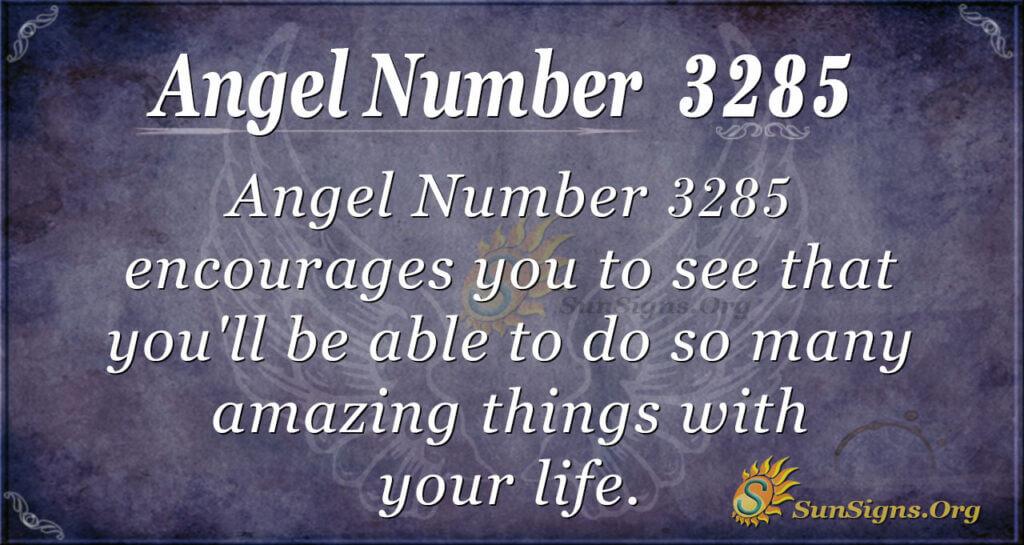 Angel Number 3285