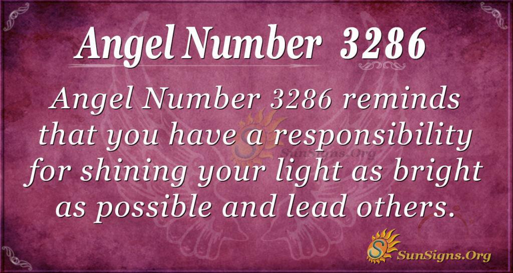 Angel Number 3286