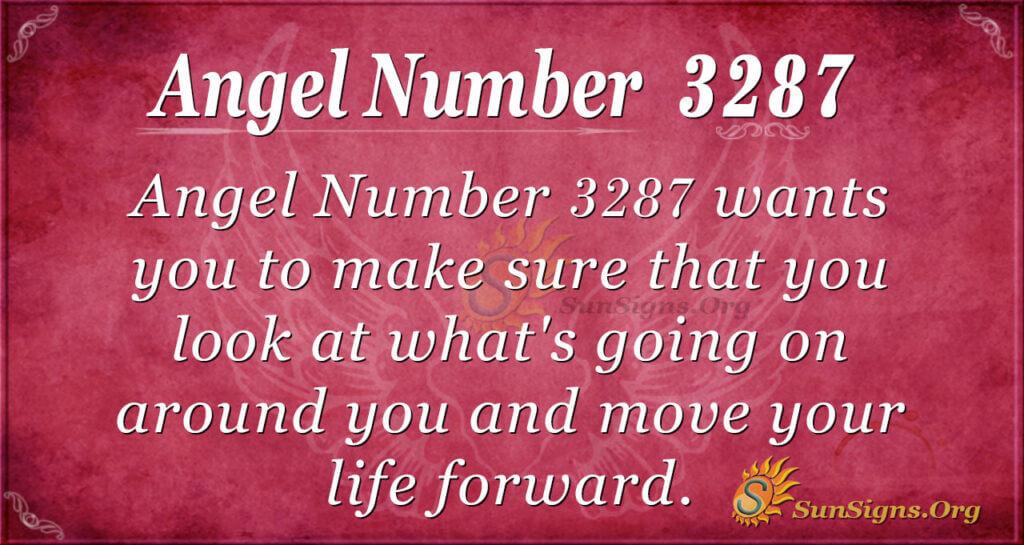 Angel Number 3287