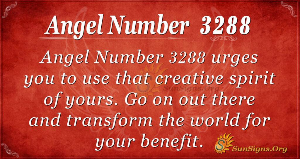 Angel Number 3288
