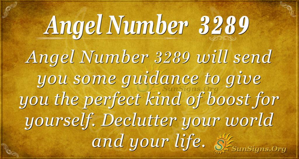 Angel Number 3289