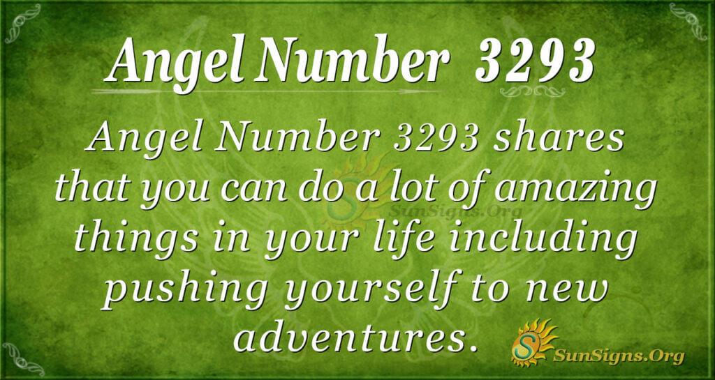 Angel Number 3293