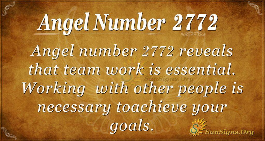 angel number 2772