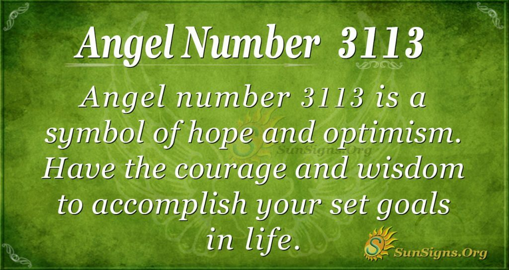 angel number 3113