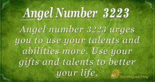 angel number 3223