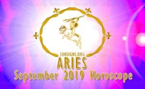 Aries September 2019 Horoscope