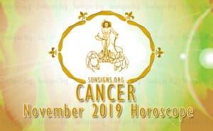Cancer November 2019 Horoscope