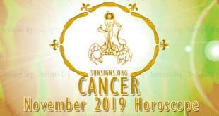 Cancer November 2019 Horoscope