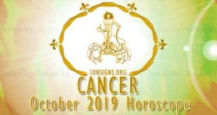 Cancer October 2019 Horoscope
