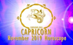 Capricorn November 2019 Horoscope