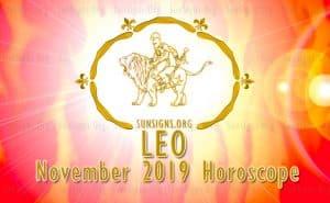 Leo November 2019 Horoscope