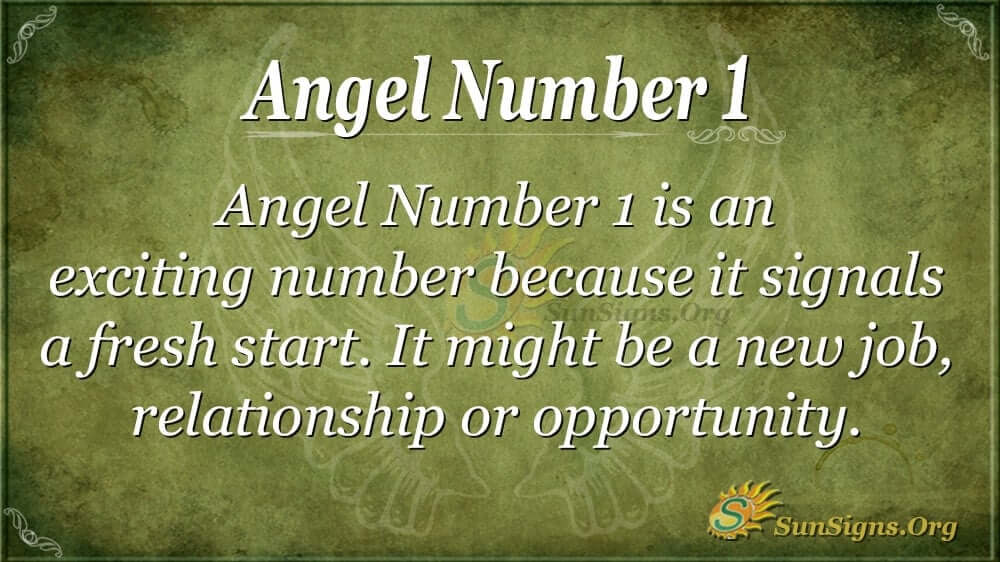 Angel Number 1 Meaning - Why Am I Seeing This Number? | SunSigns Org