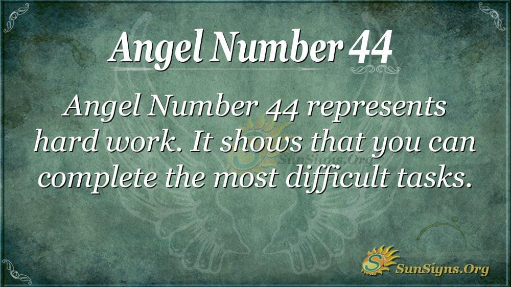 Angel Number 44