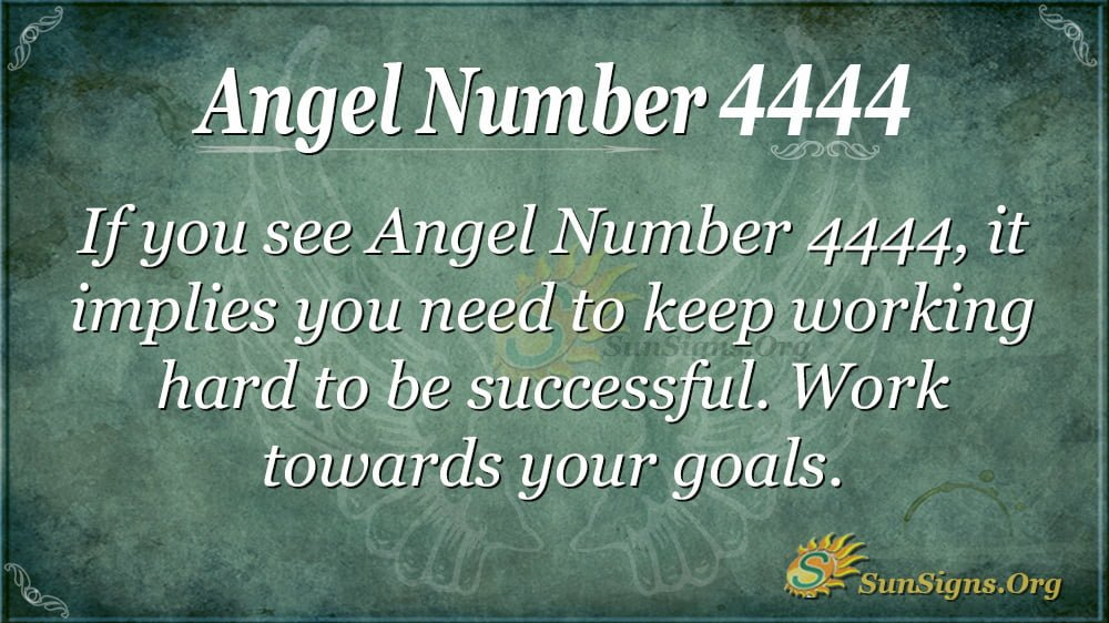Angel Number 4444