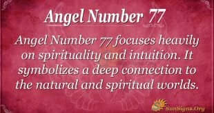 Angel Number 77