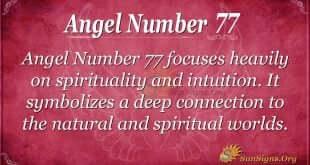 Angel Number 77