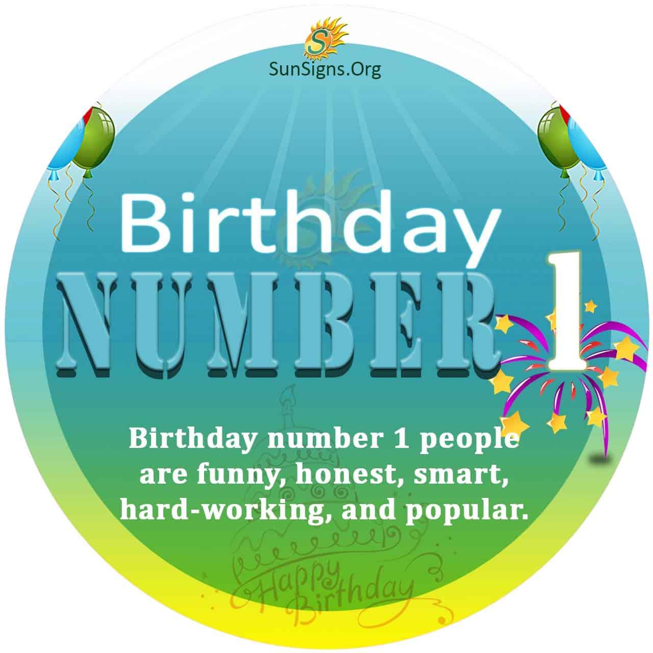 Birthday Number 1