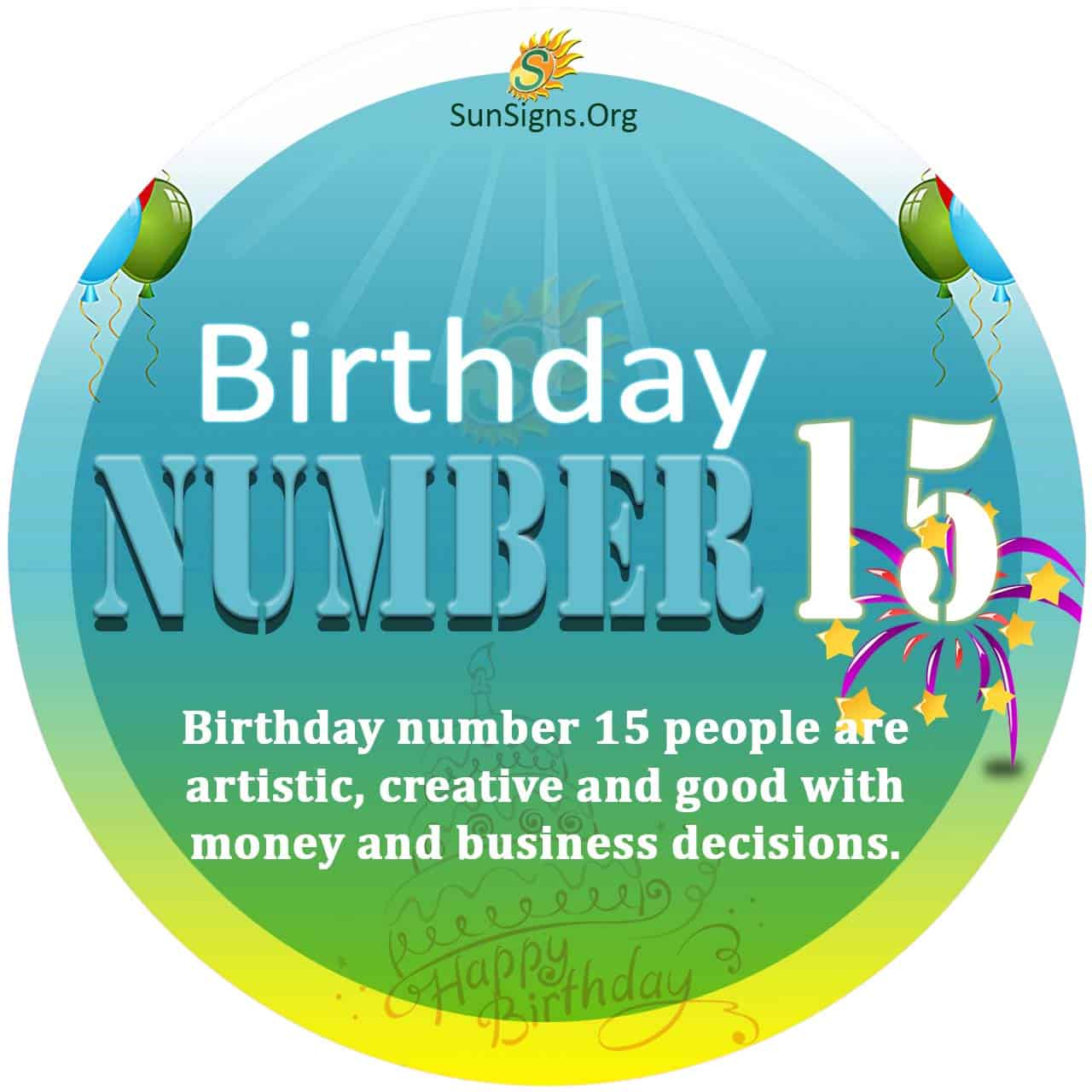 numerology number 15 october date of birth