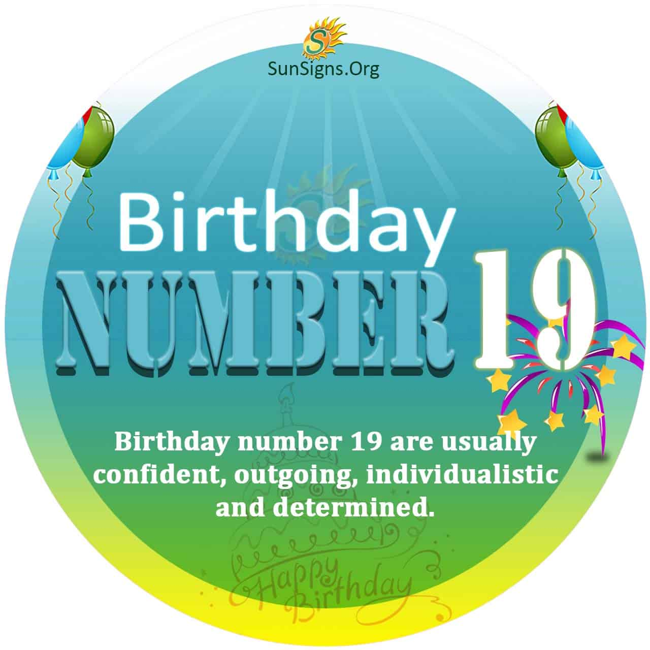 Birthday Number 19