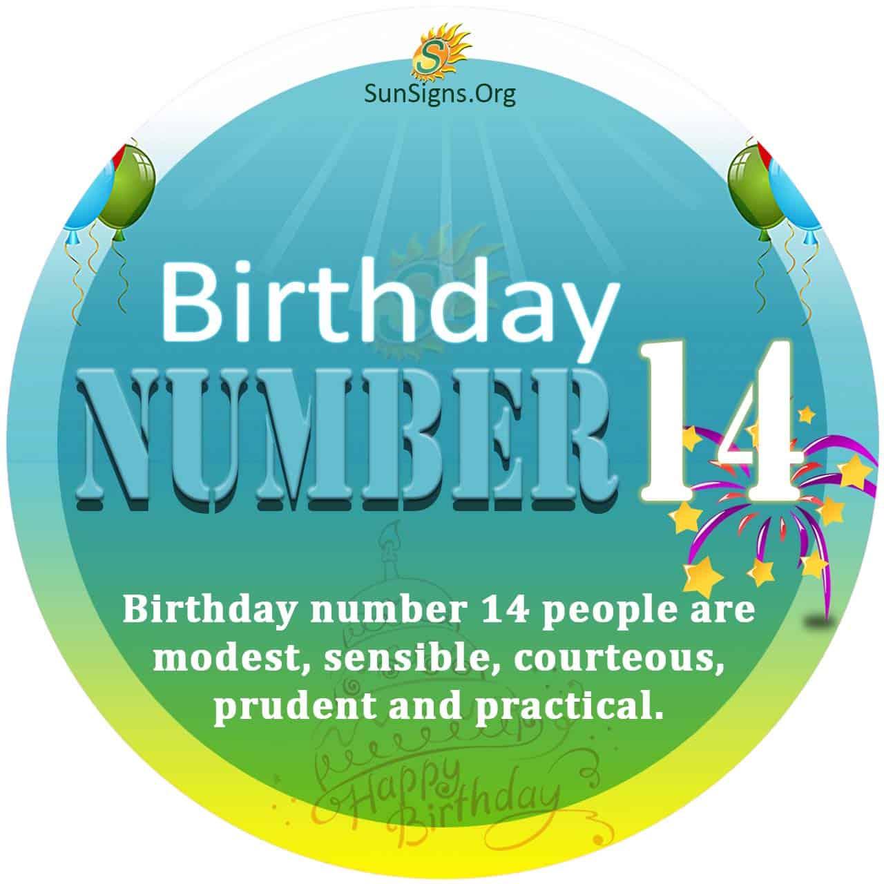 Birthday Number 14
