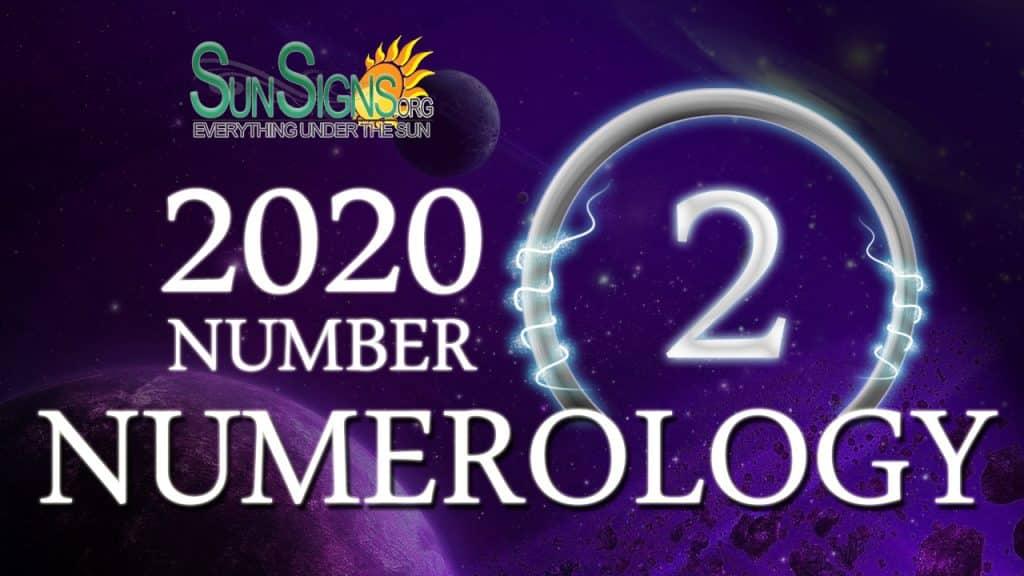 Number 2 - 2020 Numerology Horoscope