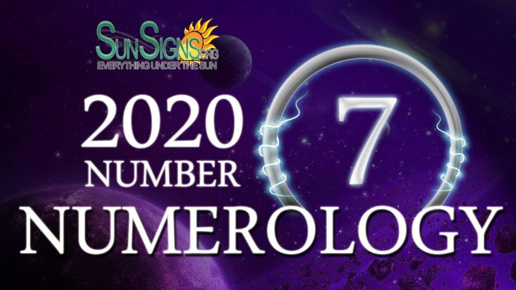 Number 7 - 2020 Numerology Horoscope