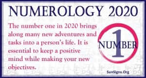 Number 1 - 2020 Numerology Horoscope