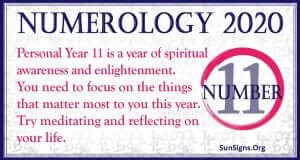 Number 11 - 2020 Numerology Horoscope