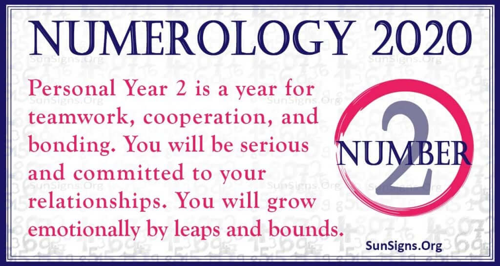 Number 2 - 2020 Numerology Horoscope