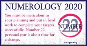 Number 22 - 2020 Numerology Horoscope