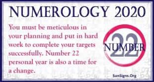 Number 22 - 2020 Numerology Horoscope