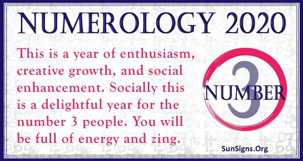 Number 3 - 2020 Numerology Horoscope