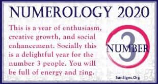 Number 3 - 2020 Numerology Horoscope
