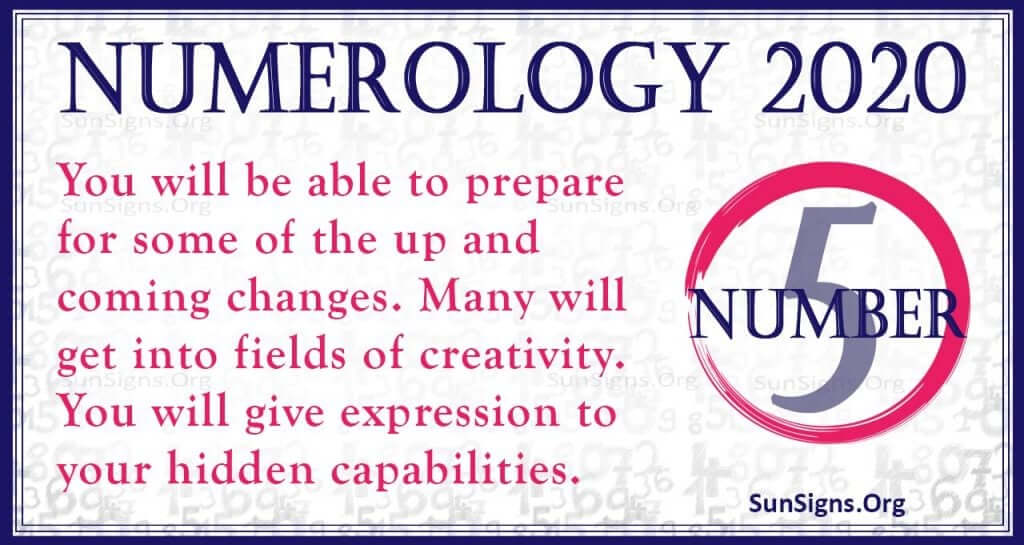 Number 5 - 2020 Numerology Horoscope