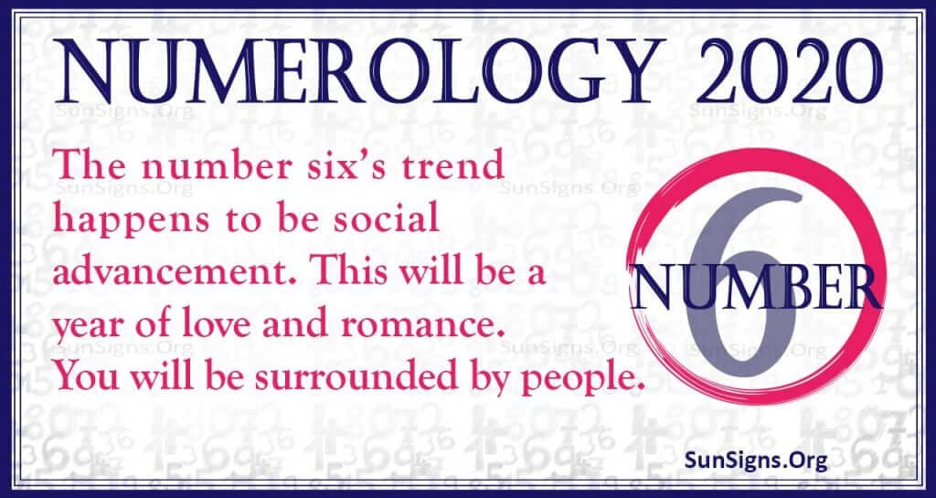Number 6 – 2020 Numerology Horoscope