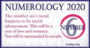 Number 6 – 2020 Numerology Horoscope