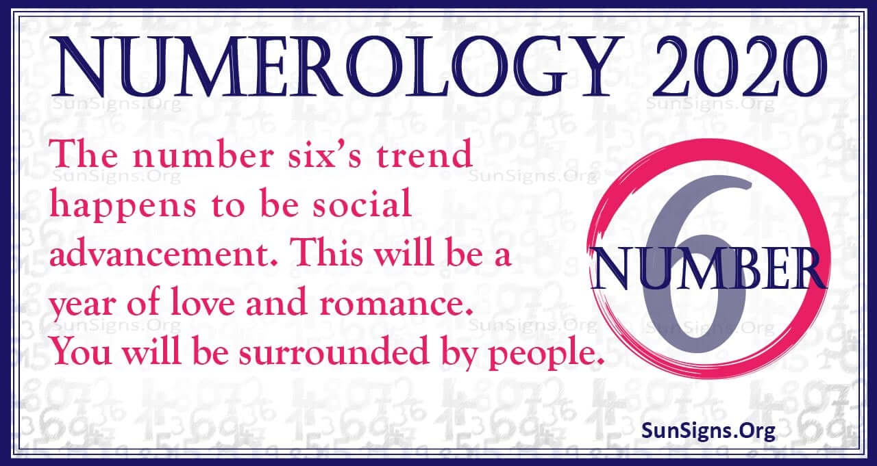 numerology january 6 2020